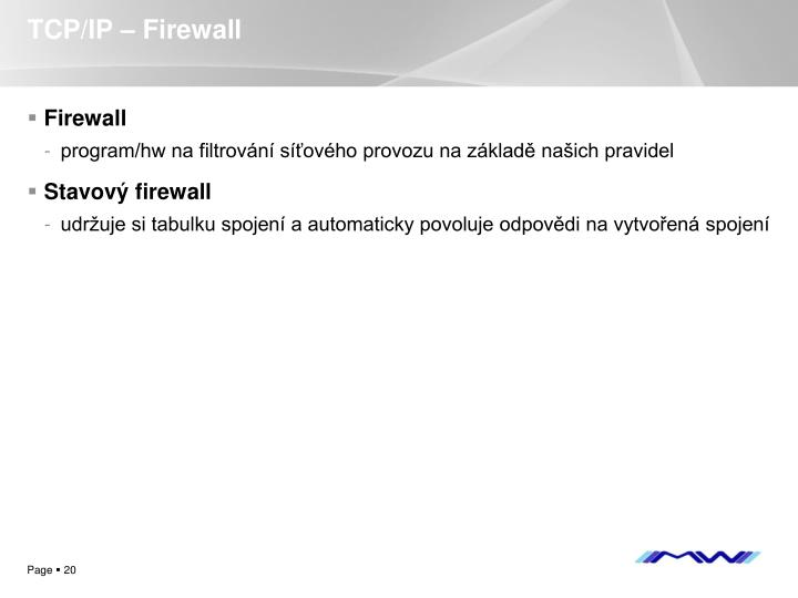 TCP/IP – Firewall