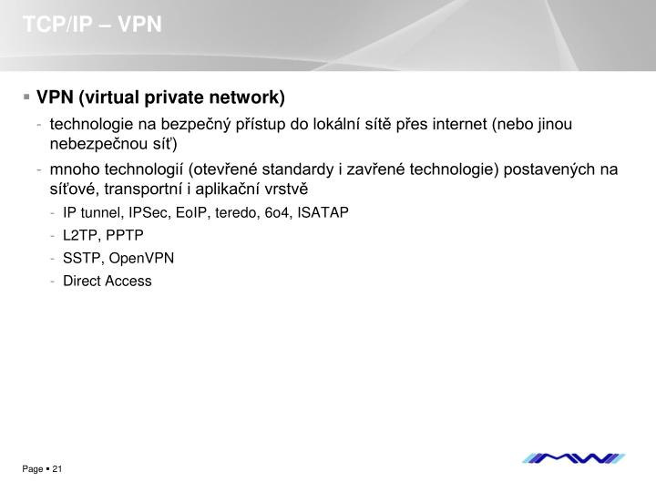 TCP/IP – VPN