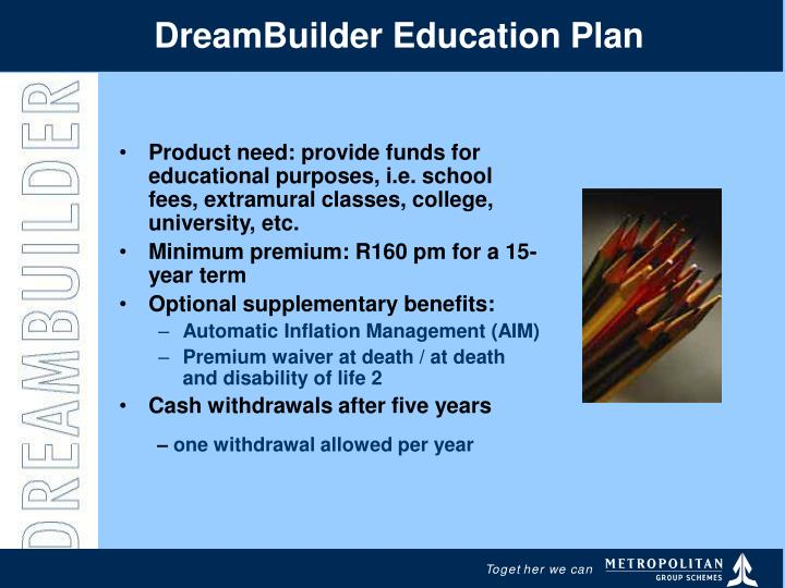 DreamBuilder Education Plan