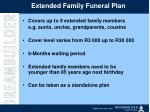 extended family funeral plan