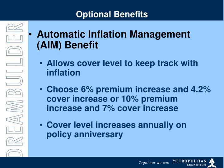 Optional Benefits