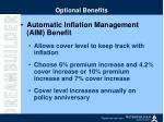 optional benefits1