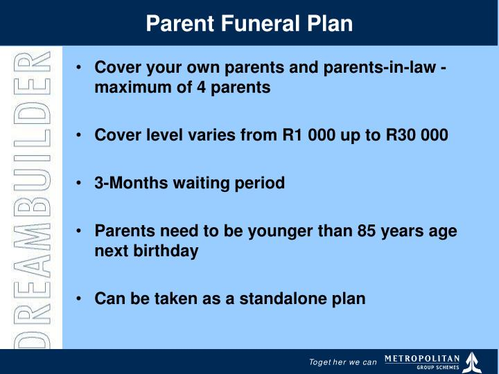 Parent Funeral Plan