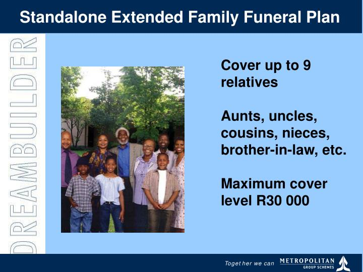 Standalone Extended Family Funeral Plan