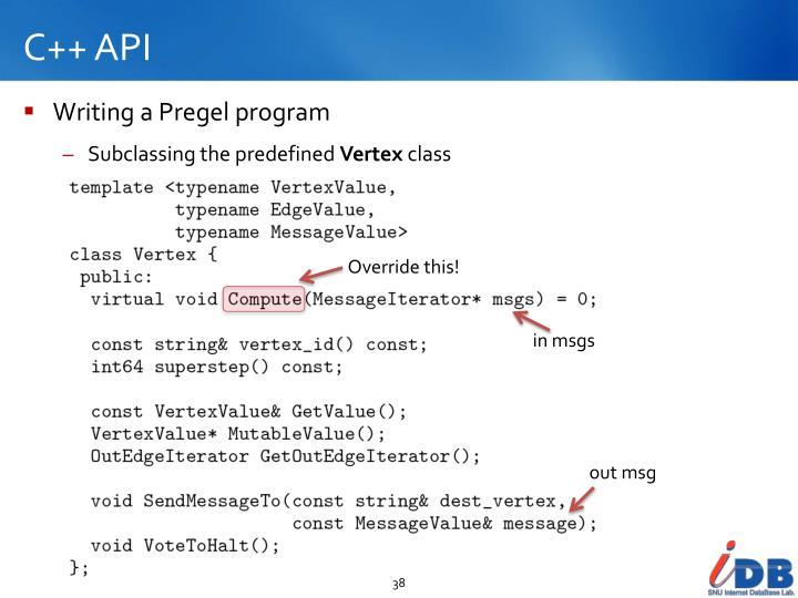C++ API