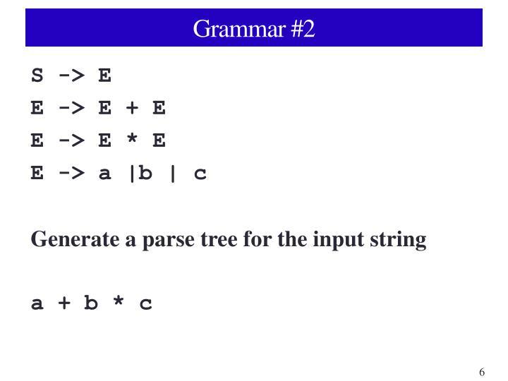 Grammar #2