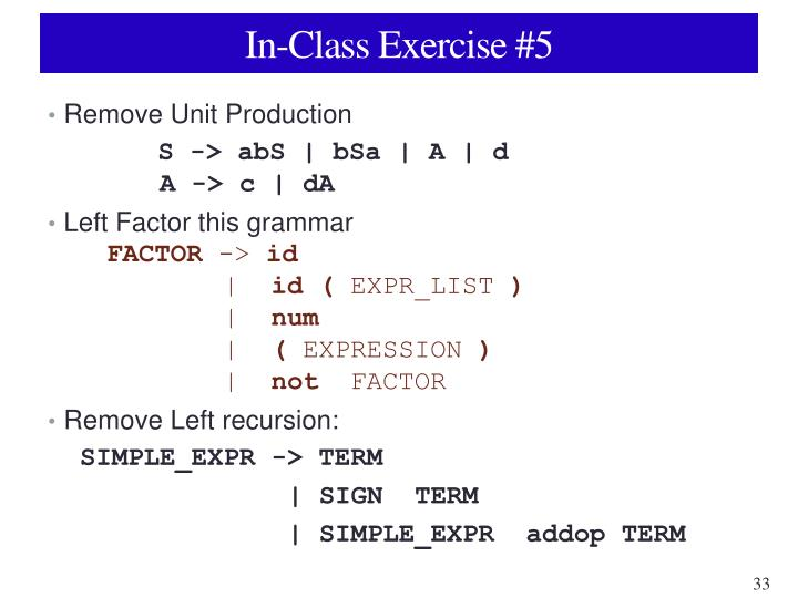 In-Class Exercise #5