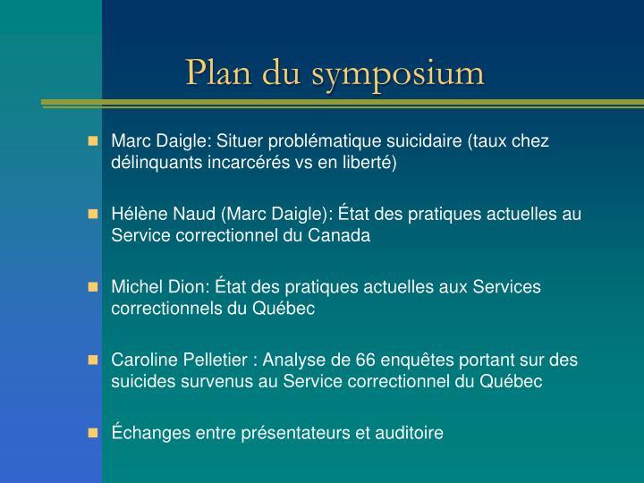 Plan du symposium