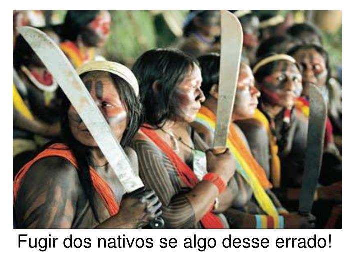 Fugir dos nativos se algo desse errado!