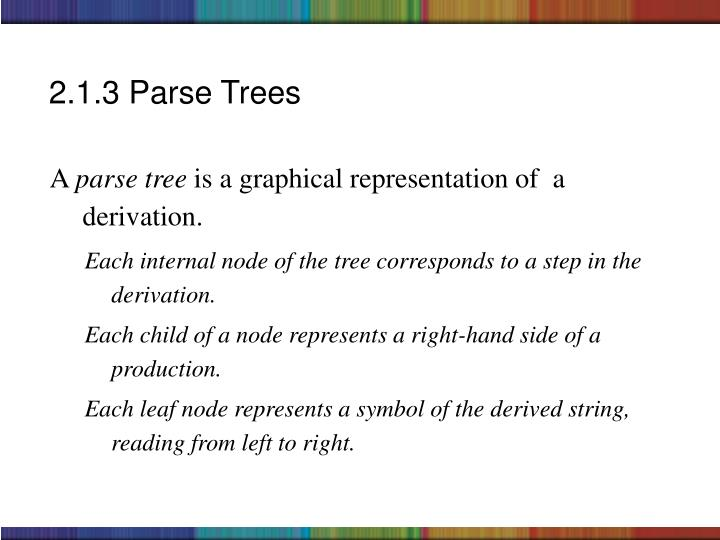 2.1.3 Parse Trees