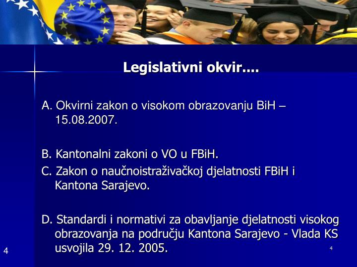 Legislativni okvir....