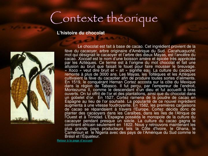 Contexte théorique