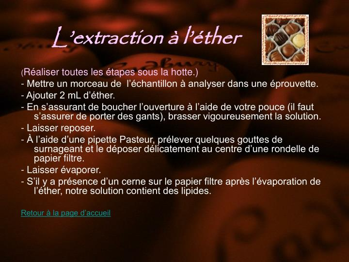 Lextraction  lther