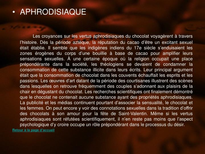 APHRODISIAQUE