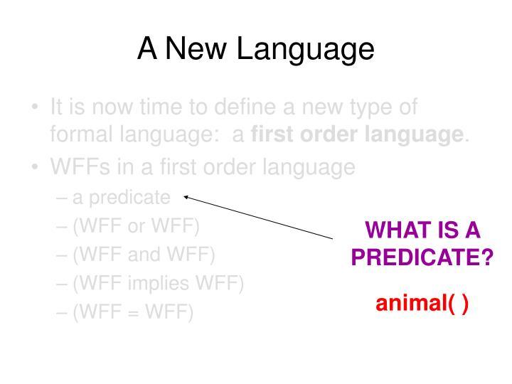 A New Language