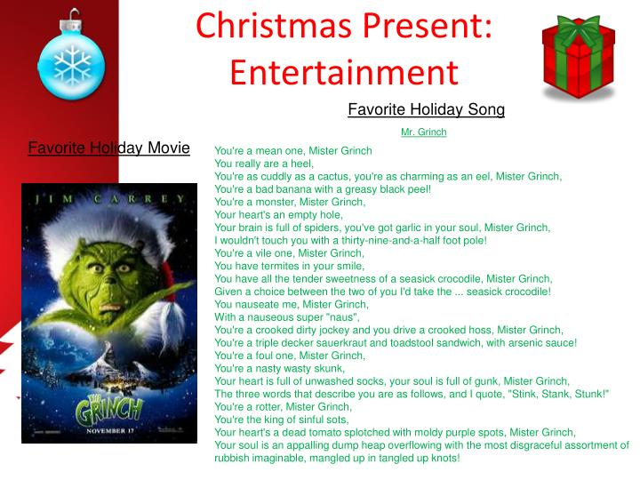 Christmas Present: Entertainment