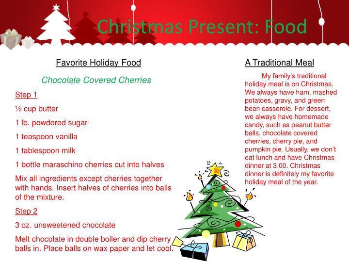 Christmas Present: Food