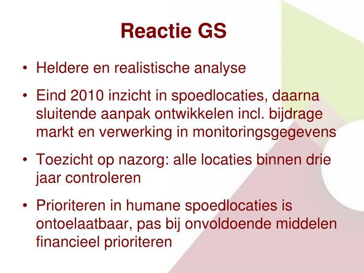Reactie GS