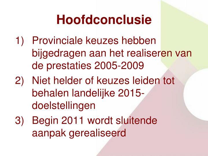 Hoofdconclusie
