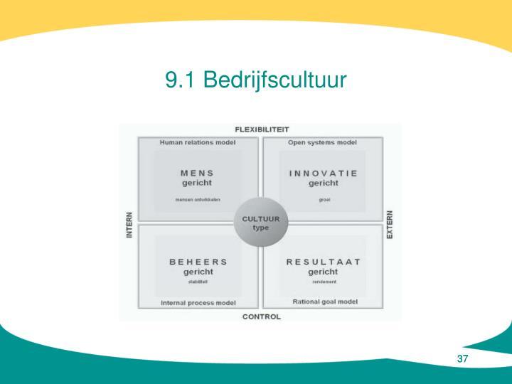 9.1 Bedrijfscultuur