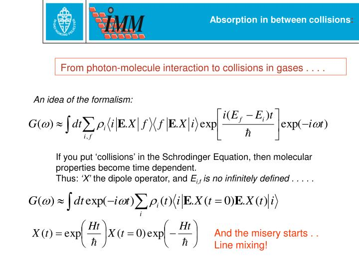 Absorption in between collisions