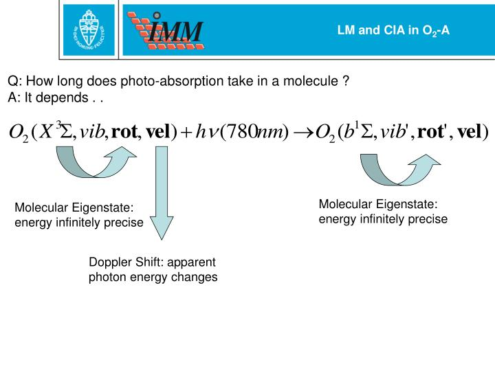 Molecular Eigenstate: energy infinitely precise