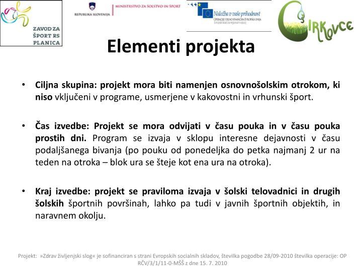 Elementi projekta
