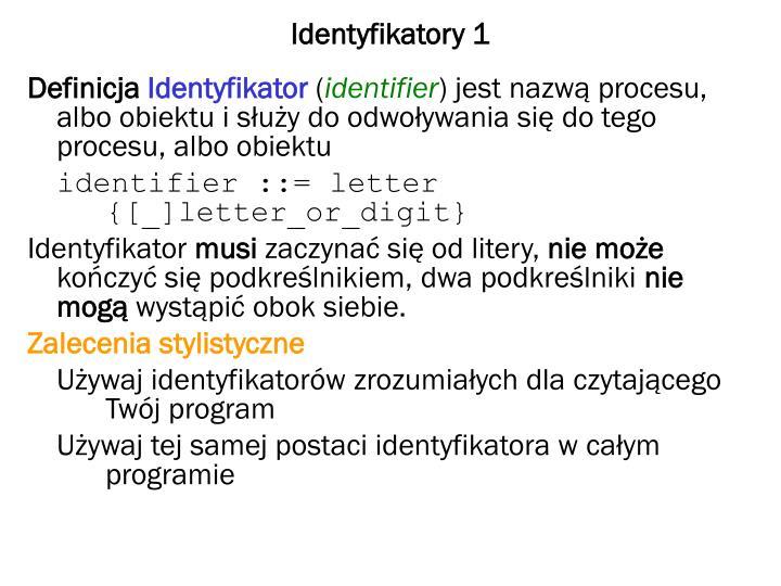 Identyfikatory 1