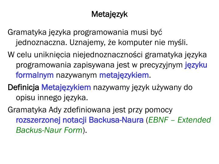 Metajęzyk