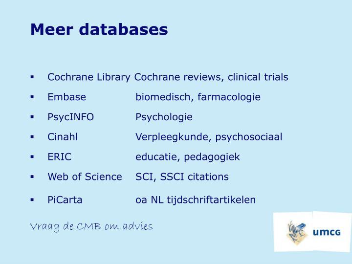 Meer databases