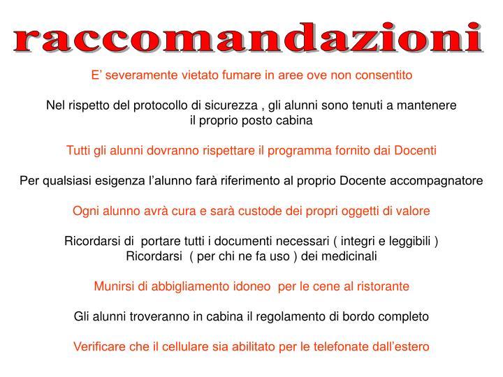 raccomandazioni