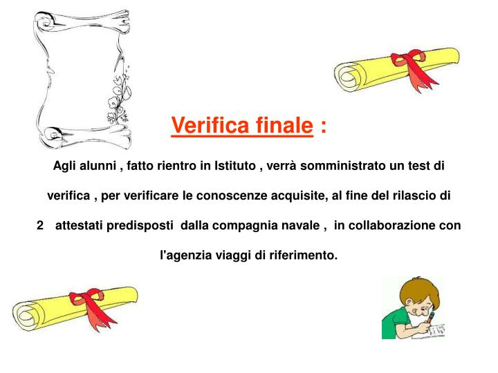 Verifica finale