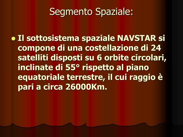 Segmento Spaziale: