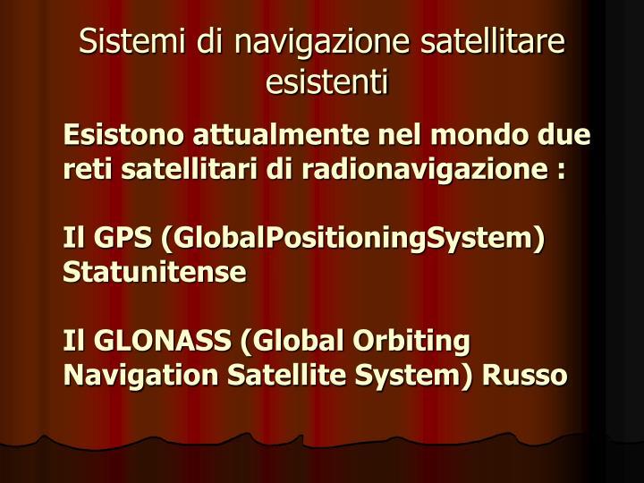 Sistemi di navigazione satellitare
