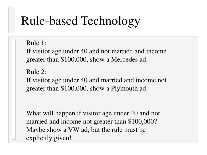 Rule-based Technology