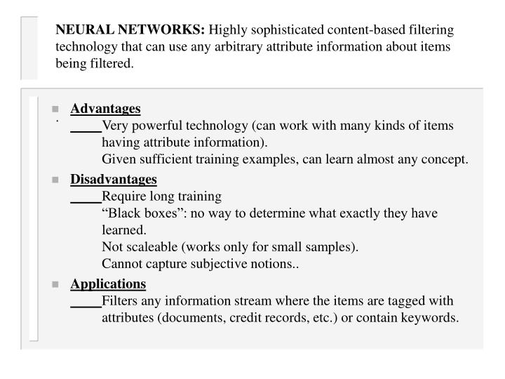 NEURAL NETWORKS: