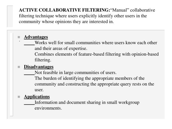 ACTIVE COLLABORATIVE FILTERING: