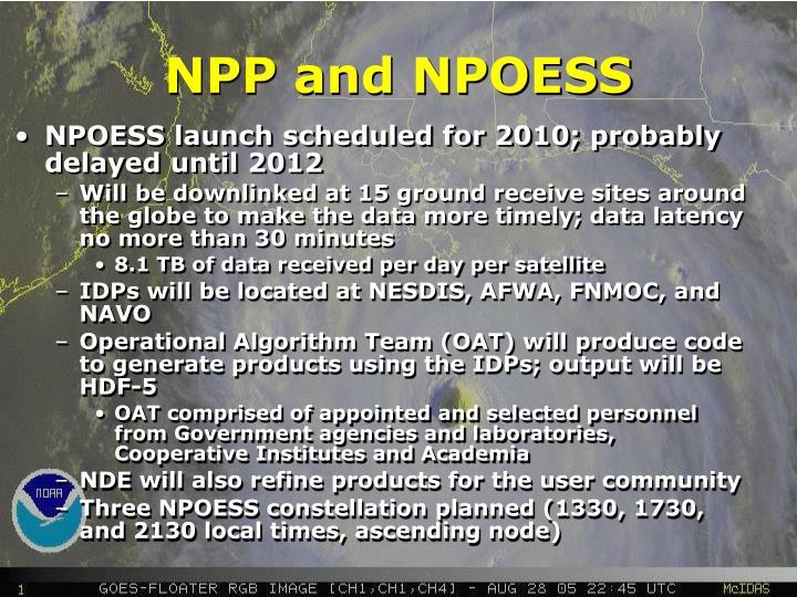 NPP and NPOESS
