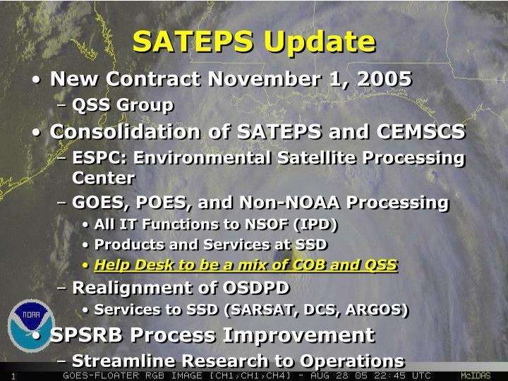 SATEPS Update