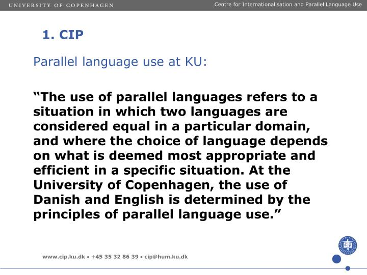 Centre for Internationalisation and Parallel Language Use