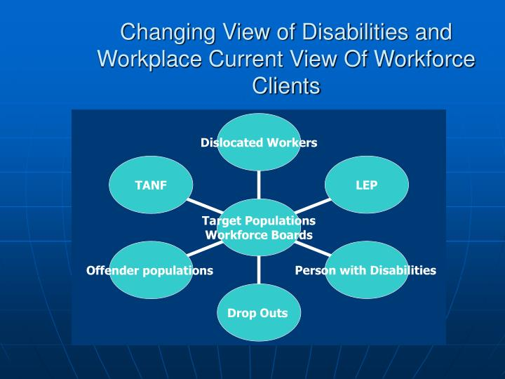 Changing View of Disabilities and Workplace Current View Of Workforce Clients