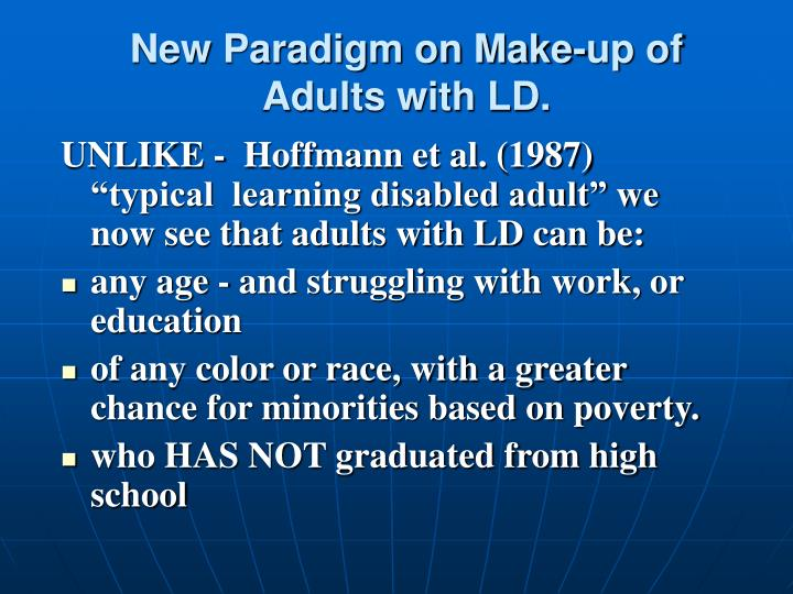 New Paradigm on Make-up of