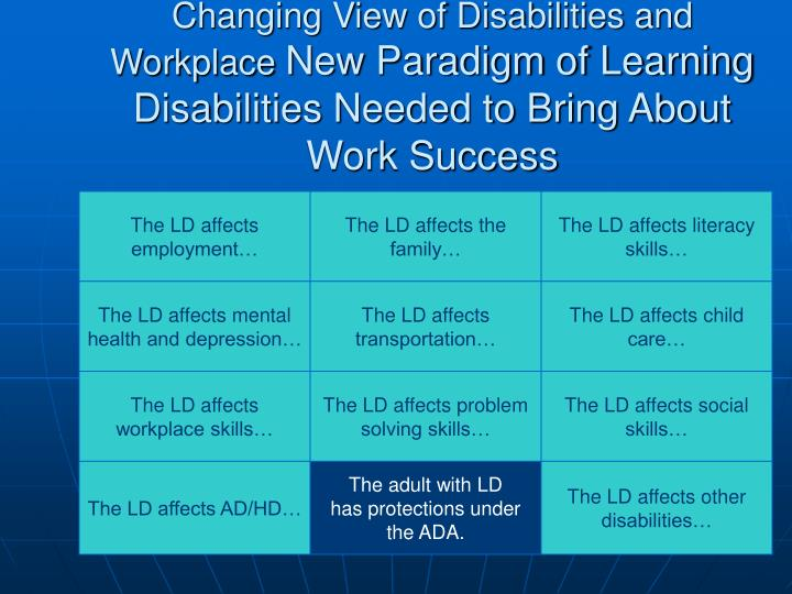 The LD affects employment…