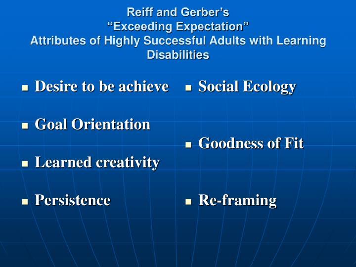 Desire to be achieve