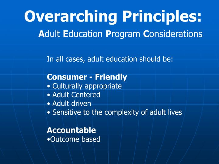 Overarching Principles: