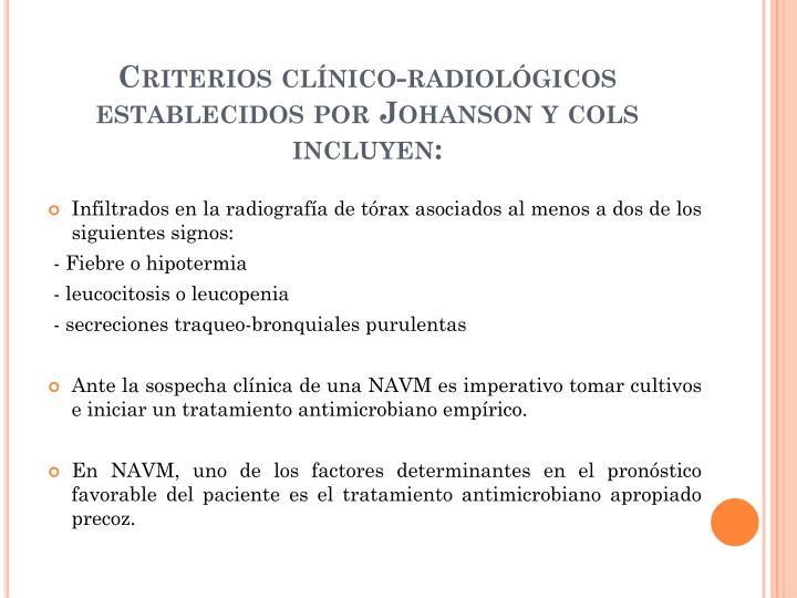 Criterios clínico-radiológicos establecidos por