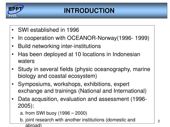 SWI established in 1996
