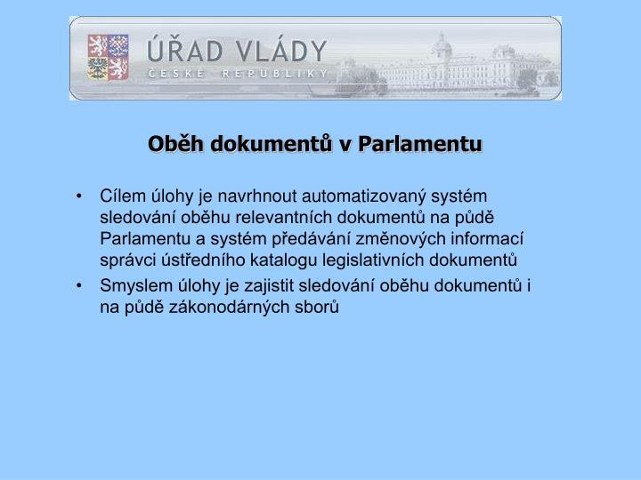 Oběh dokumentů v Parlamentu