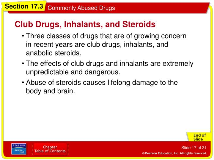 Club Drugs, Inhalants, and Steroids
