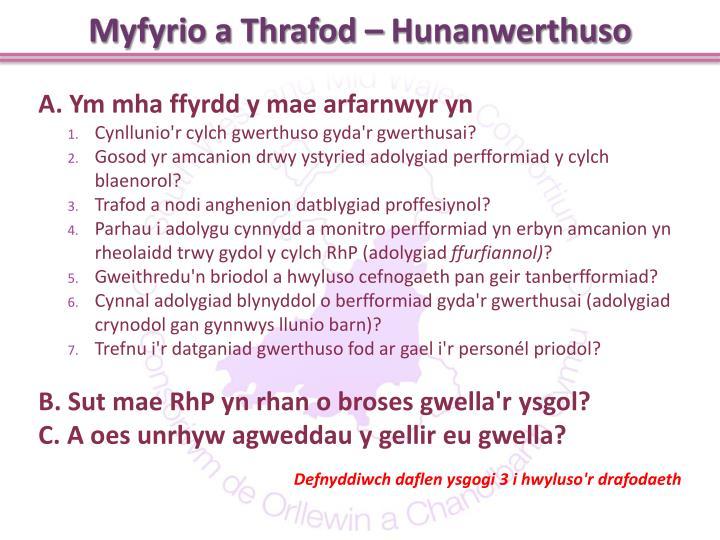 Myfyrio a Thrafod –